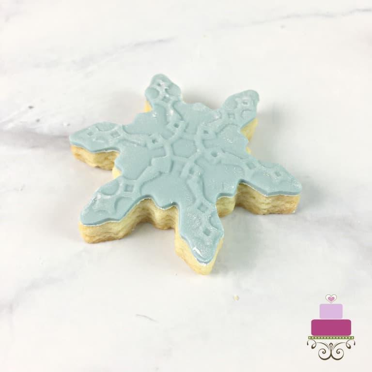 Blue snowflake sugar cookies