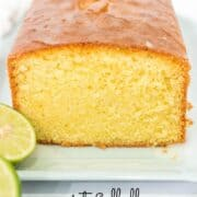 A loaf cake cut