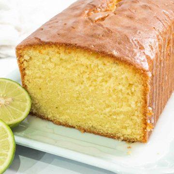 A cut loaf cake
