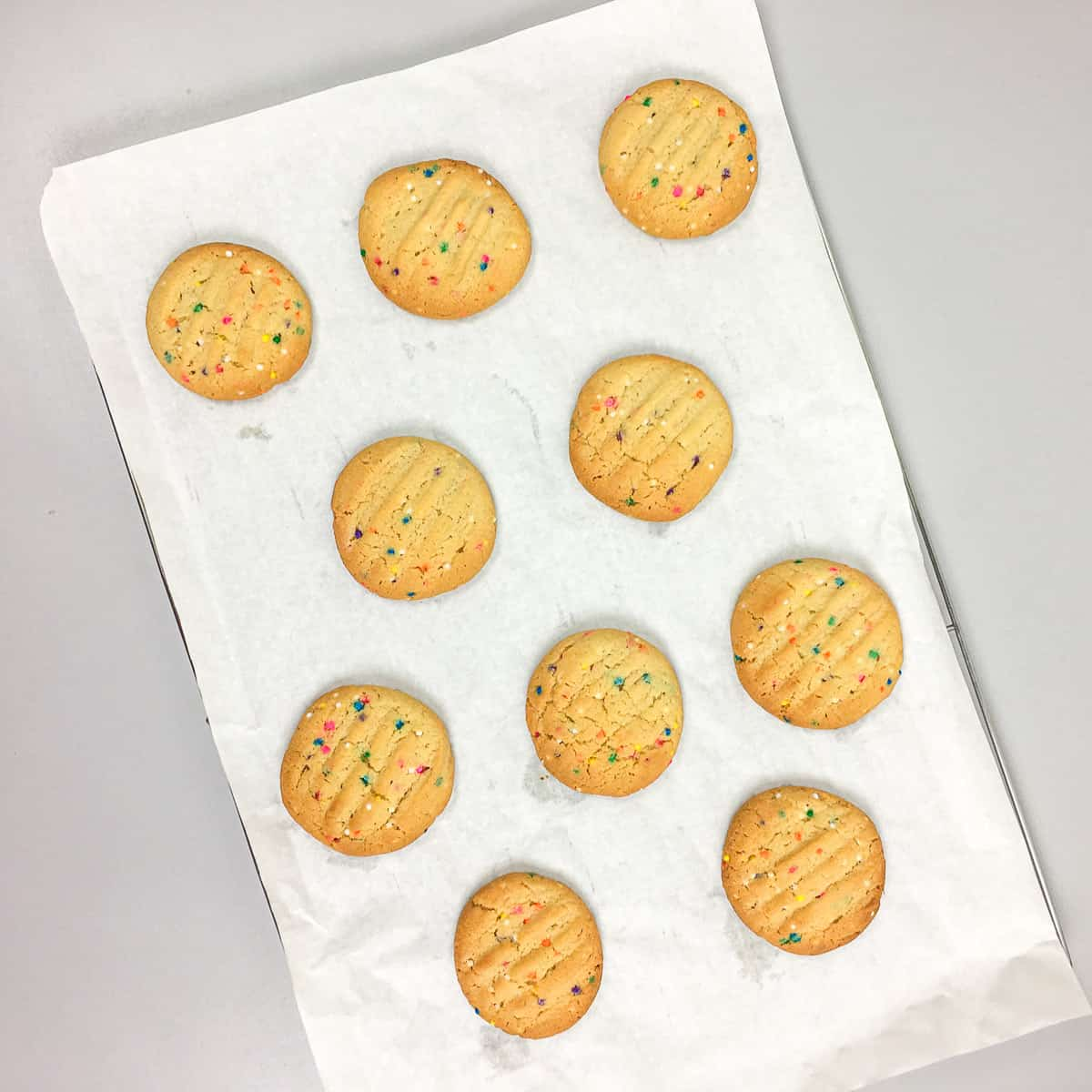 Cookies on a parchment paper
