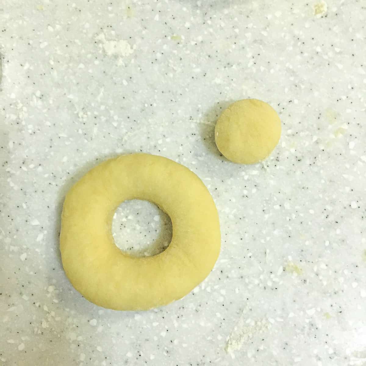 A cut ring donut and the donut center