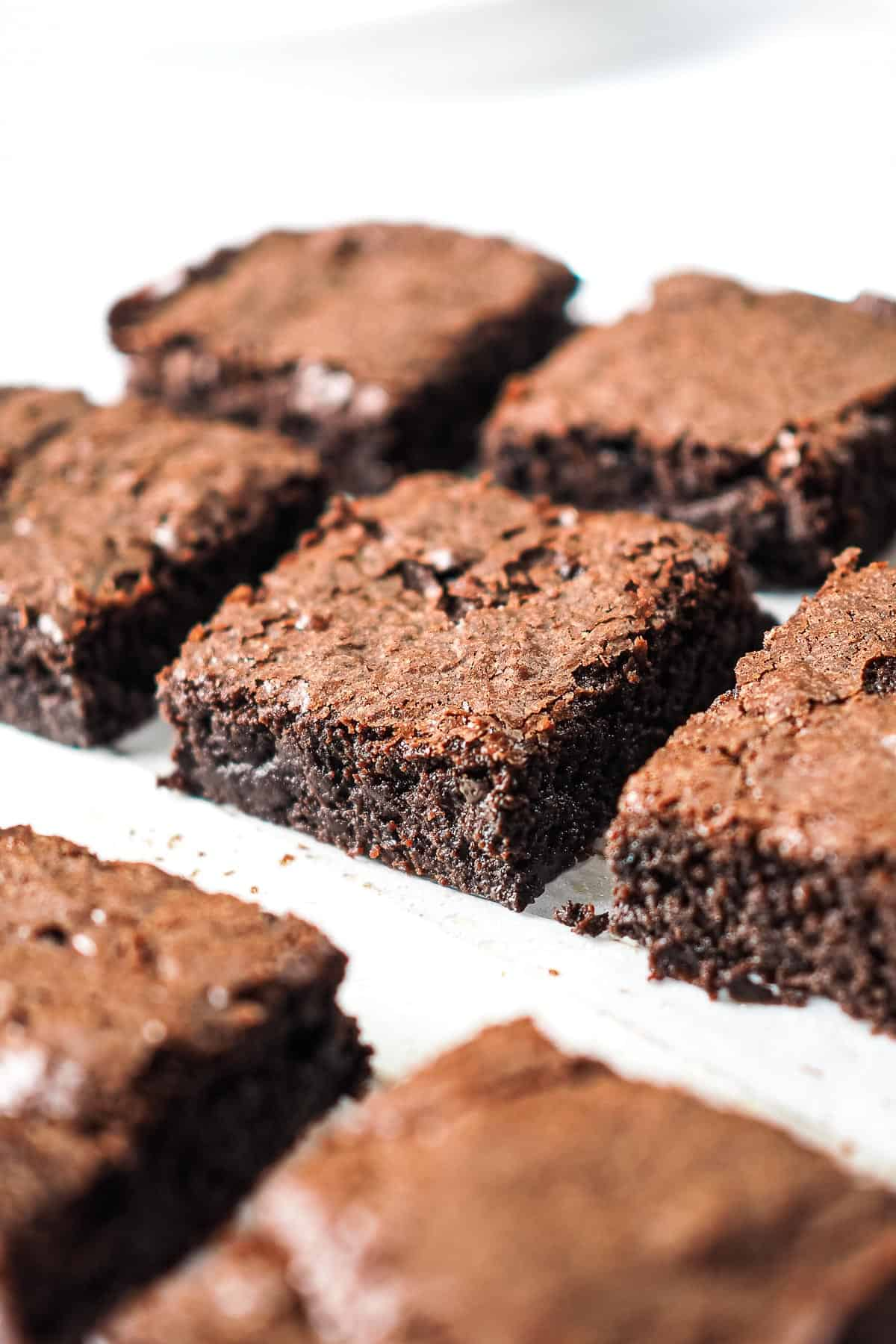 Cut brownie squares
