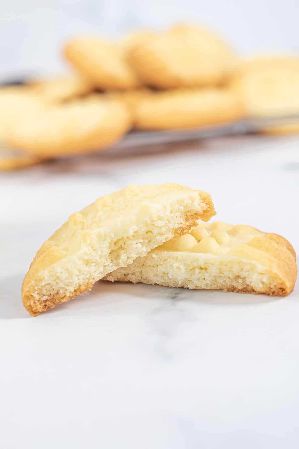 A cookie broken into 2
